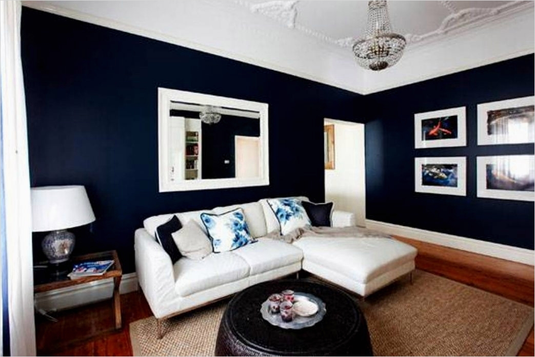 outstanding navy white living room | navy blue and white living room 8 - DecoRewarding